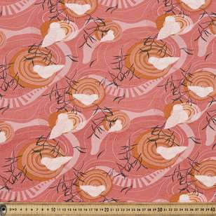Vanessa Holliday Pretty Bird Printed Cotton Spandex Fabric