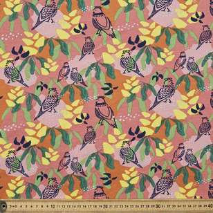 Vanessa Holliday Birds Meeting Printed Cotton Spandex Fabric
