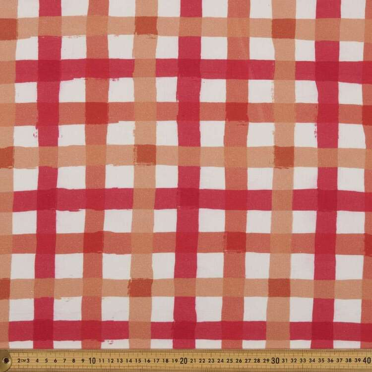 Oasis Living Gingham Check Canvas
