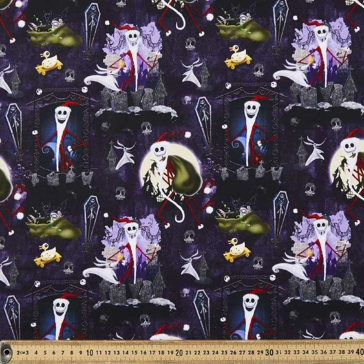 Nightmare Before Christmas Santa Jack Cotton Fabric