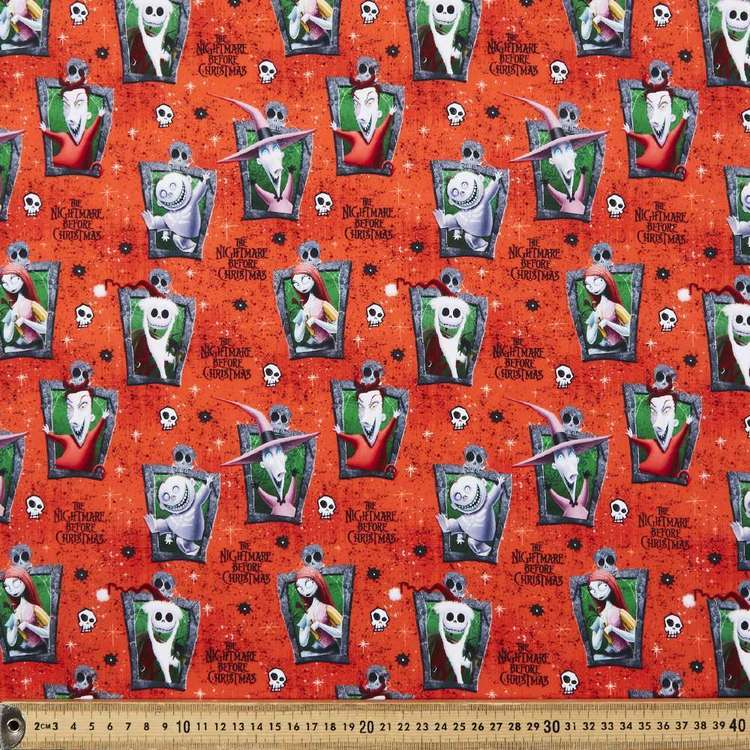 Nightmare Before Christmas Characters Cotton Fabric