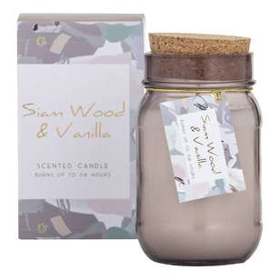 Spectra Siam Wood Scented Candle Jar