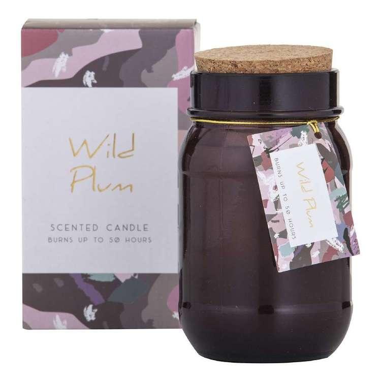Spectra Wild Plum Scented Candle Jar