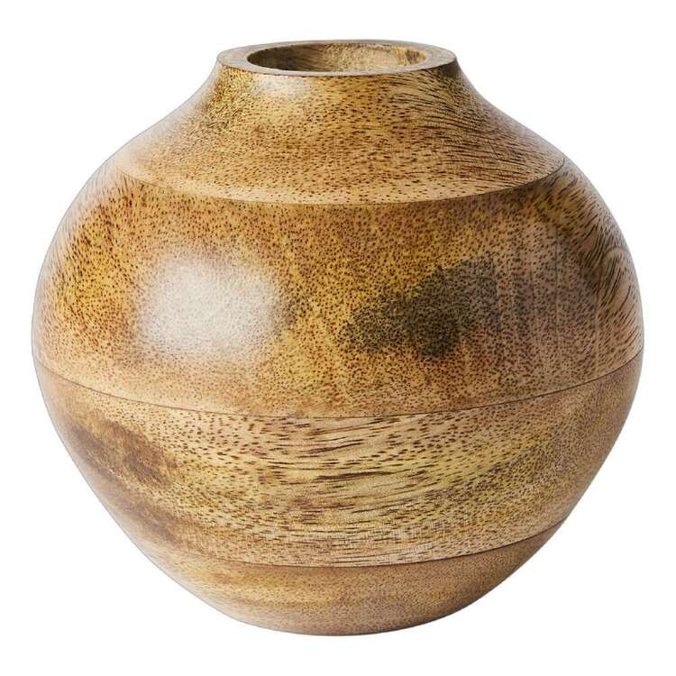 Living Space Urban Sanctuary Round Small Wooden Vase