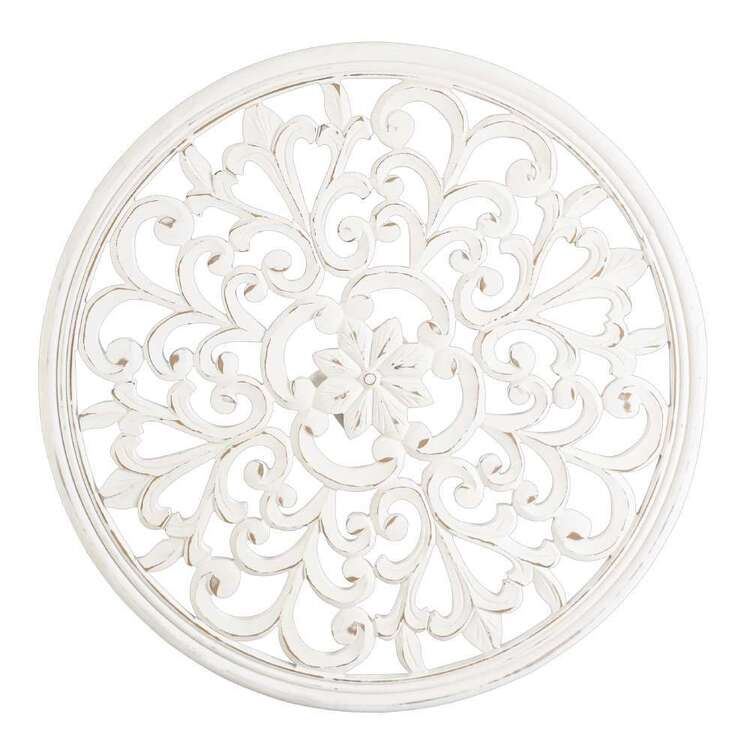 Living Space Etched Wooden Round Mandala Hanging