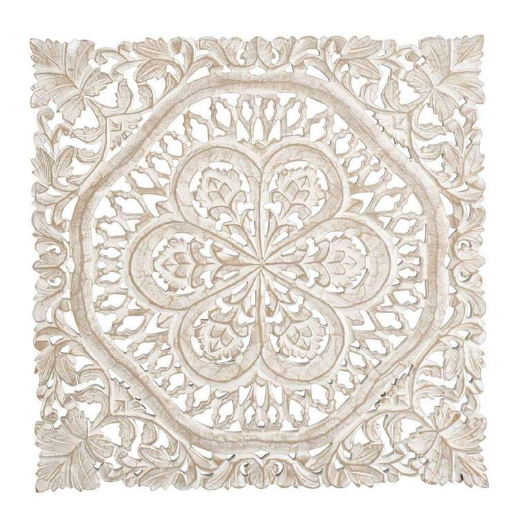 Living Space Etched Square Wall Hanging