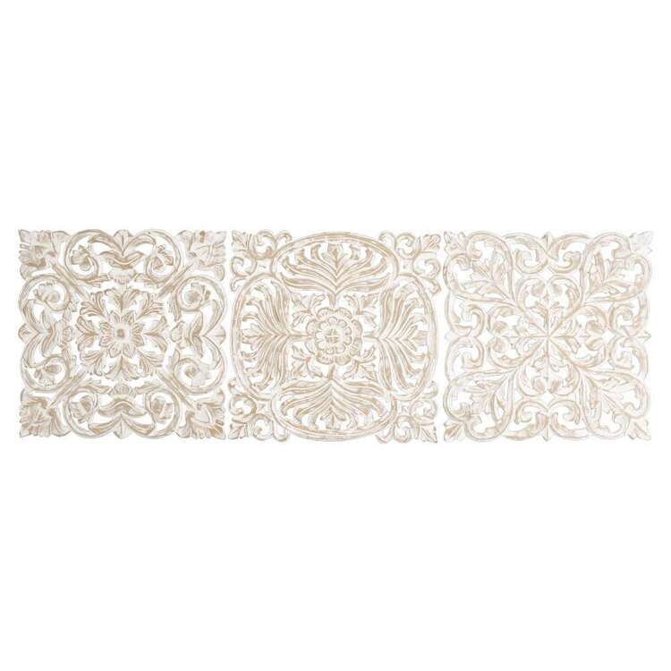 Living Space Etched Set Of 3 Wall Hanging Natural 40 x 40 cm