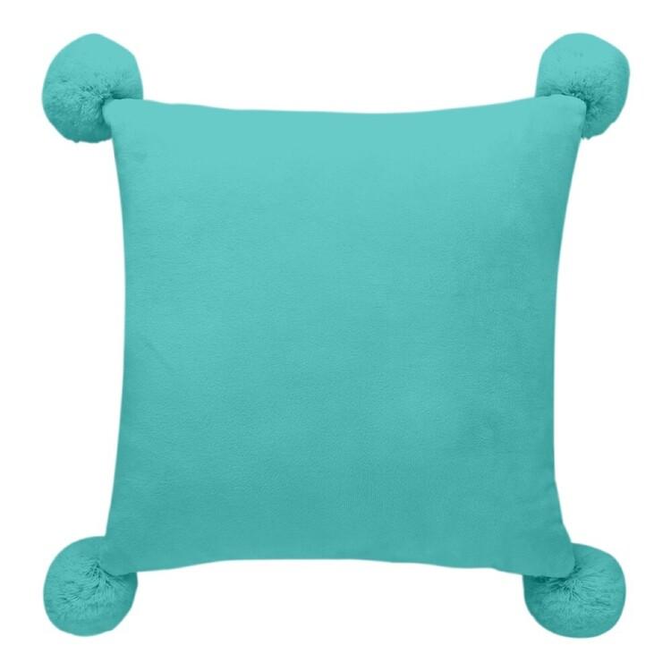 Kids House Pom Poms Cushion