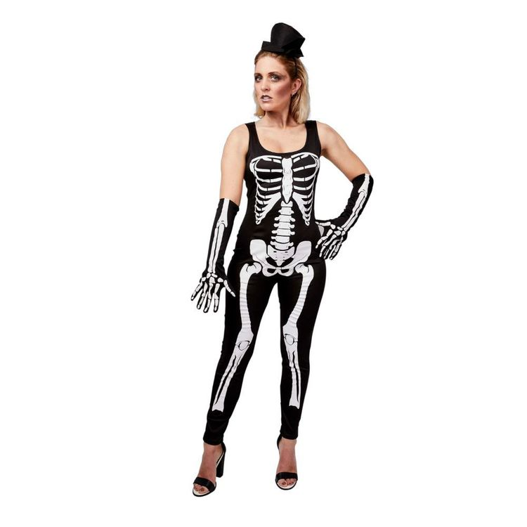 Spartys Skeleton Woman Jumpsuit