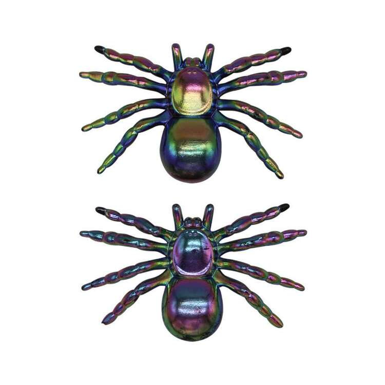 Spooky Hollow Oil Slick Spiders 2 Pack