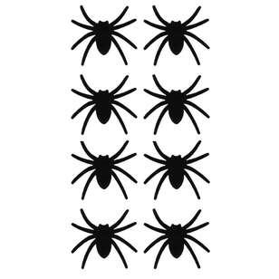 Spooky Hollow Flocked Spiders 8 Pack