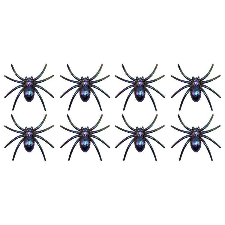 Spooky Hollow Oil Slick Spiders 8 Pack