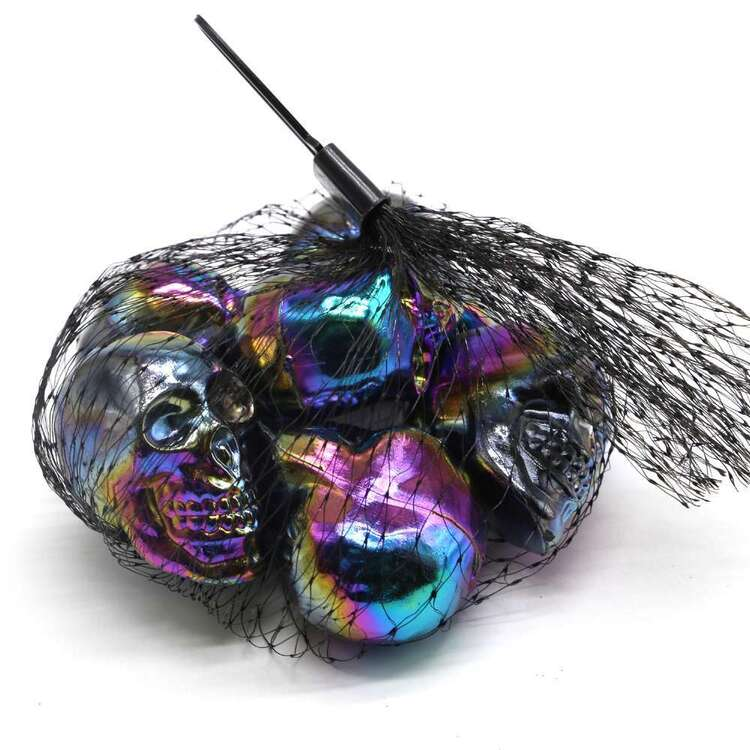 Spooky Hollow Mini Oil Slick Skull 6 Pack