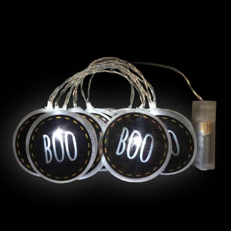 Spooky Hollow Boo PVC String Lights