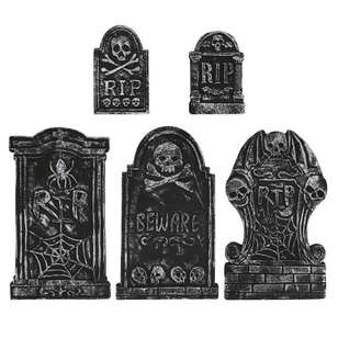 Spooky Hollow Tombstones 5 Pack