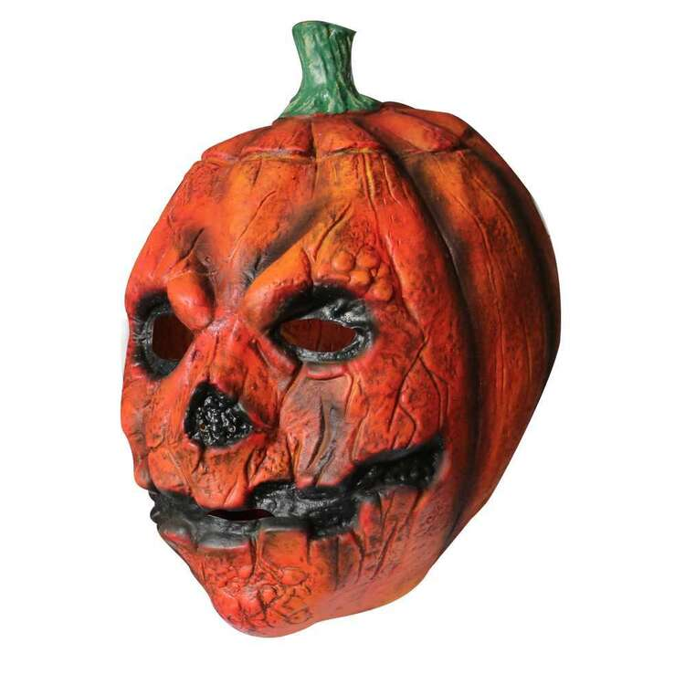 Spooky Hollow Pumpkin Latex Mask