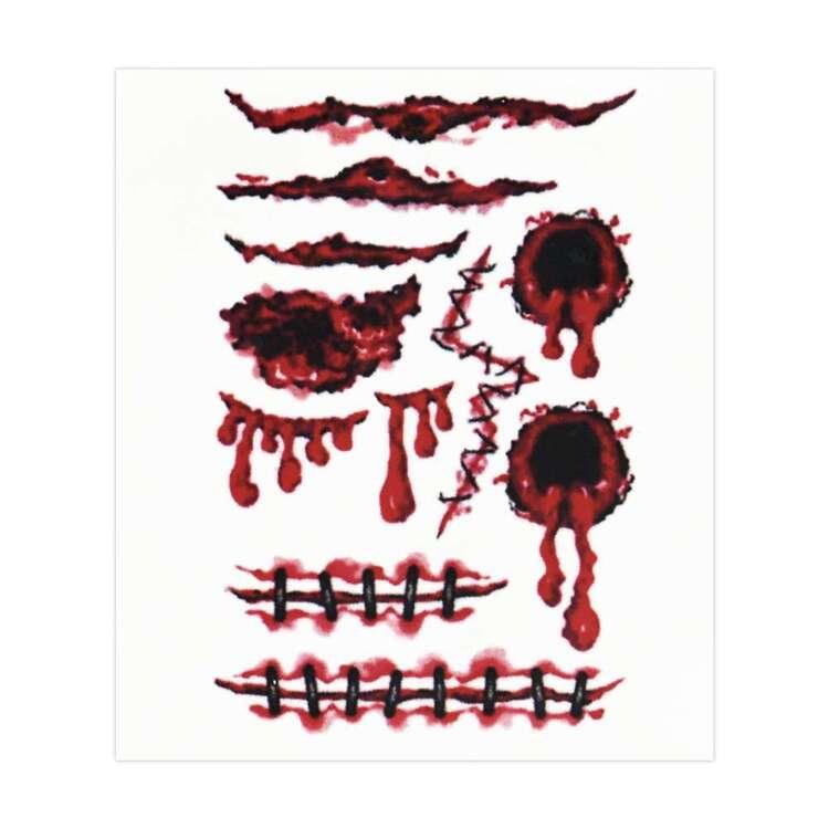 Spooky Hollow Scar Temporary Tattoos