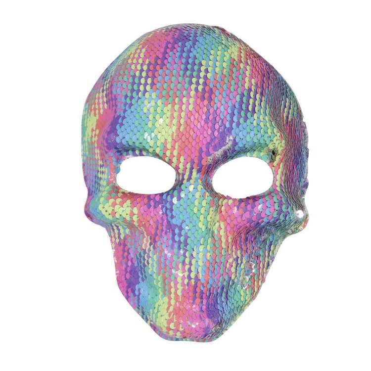 Spooky Hollow Glitter Rainbow Mask