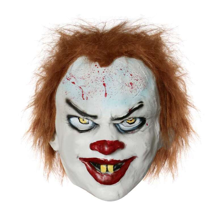 Spooky Hollow Latex Clown Mask