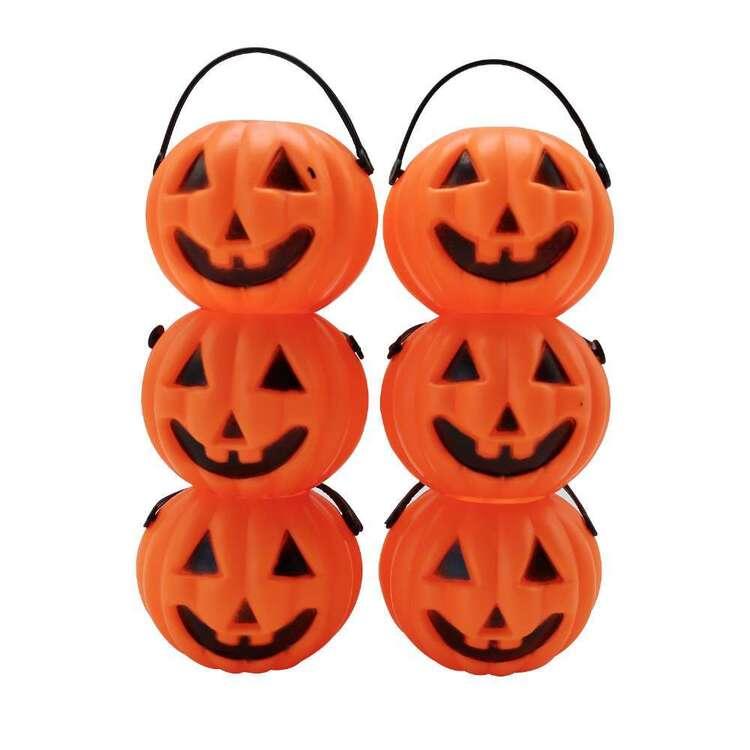 Spooky Hollow Pumpkin Mini Candy Jars 6 Pack