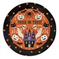 Spooky Hollow Orange Paper Plates 8 Pack Multicoloured