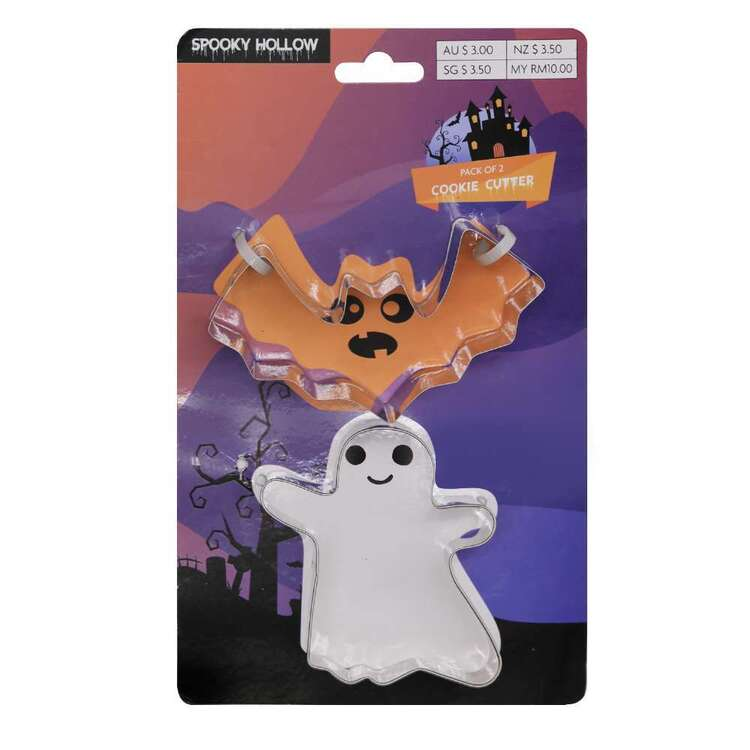 Spooky Hollow Ghost Cookie Cutter 2 Pack Multicoloured