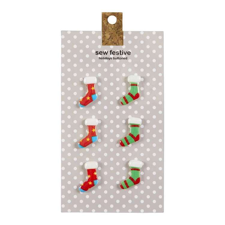 Socks Christmas Buttons