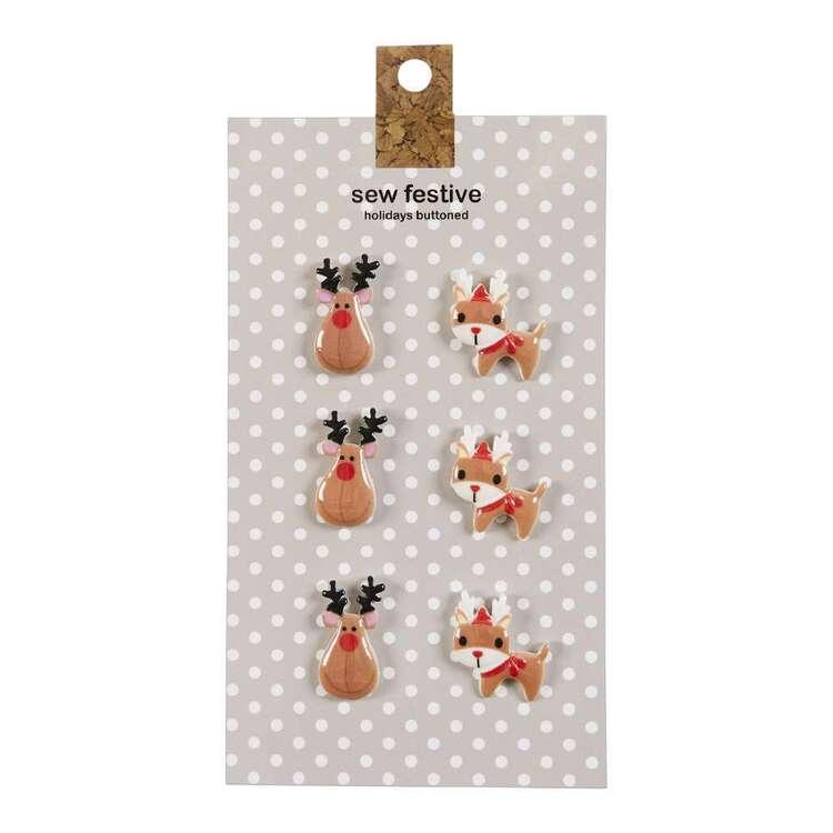 Elk Christmas Buttons