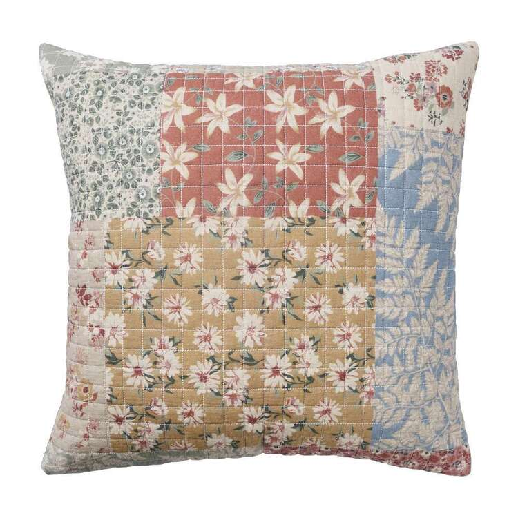 Koo Home Olivia Printed Quilted Cushion Multicoloured 45 x 45 cm
