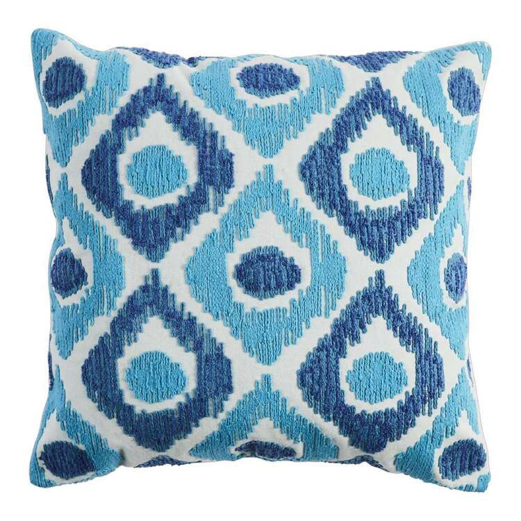 Koo Home Ikat Embroidered Cushion