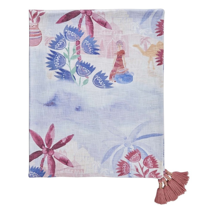 Koo Home Oasis Printed Slub Throw