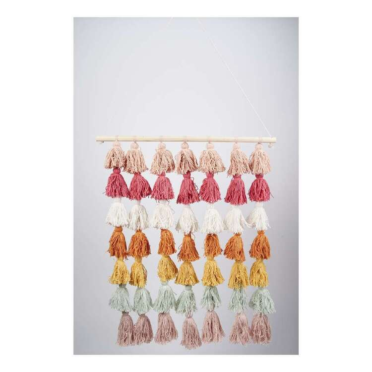 Kids House Rainbow Tassel Wall Hanging