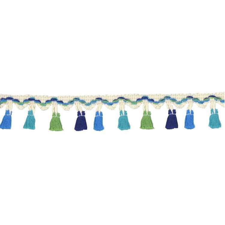 Blue & Green Tassel Fringe