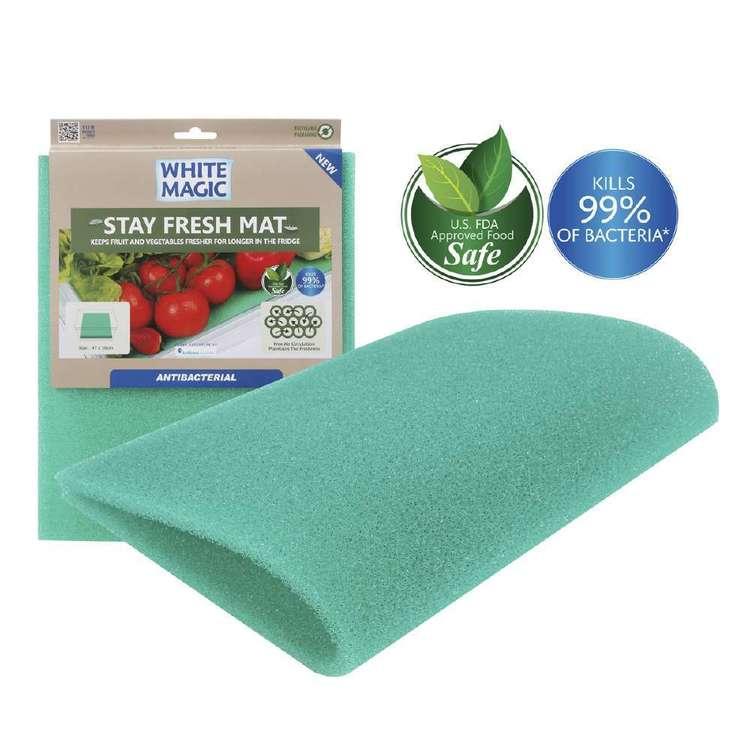White Magic Stay Fresh Anti Bacterial Fridge Mat