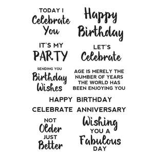Kaisercraft Birthday Sentiment Background Stamp