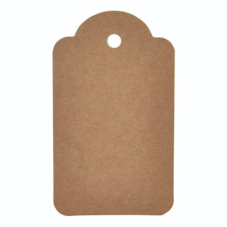 Kaisercraft Lucky Dip Kraft Tags Scallop 12 Pack