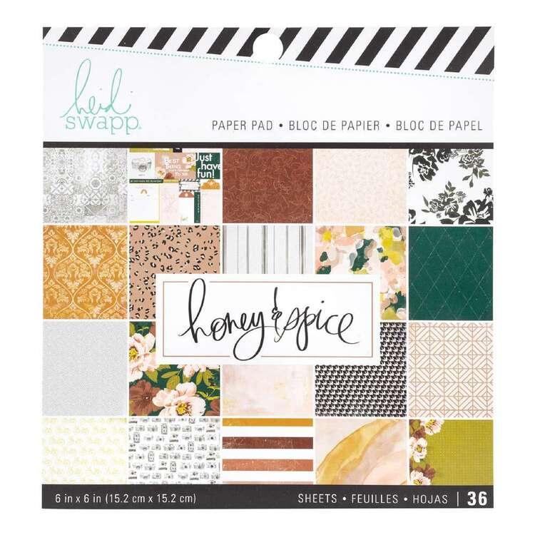 "Heidi Swapp 6"" Honey & Spice Paper Pad"