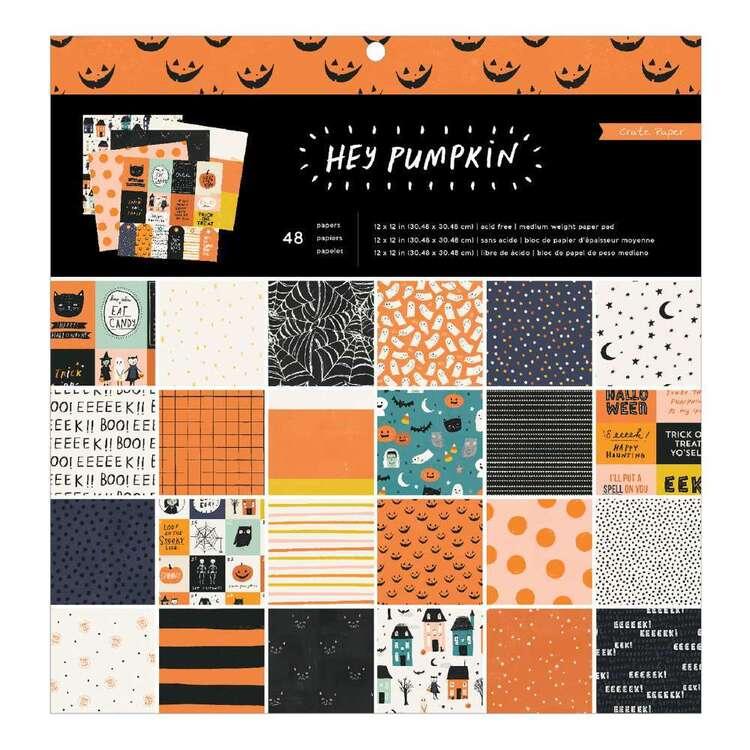 American Crafts Crate Paper 12 X 12 in Hey Pumpkin Paper Pad