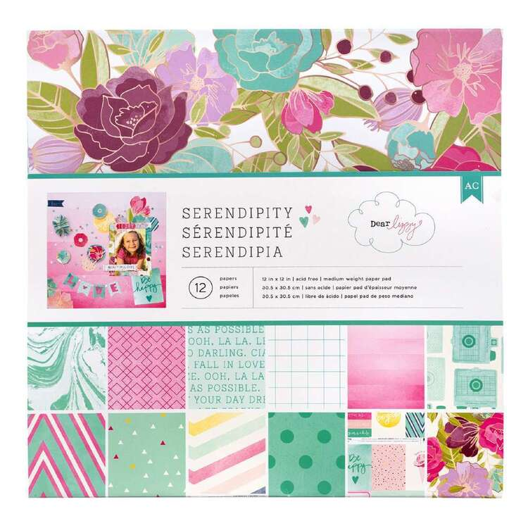 American Crafts 12 X 12 in Serendipity Paper Pad