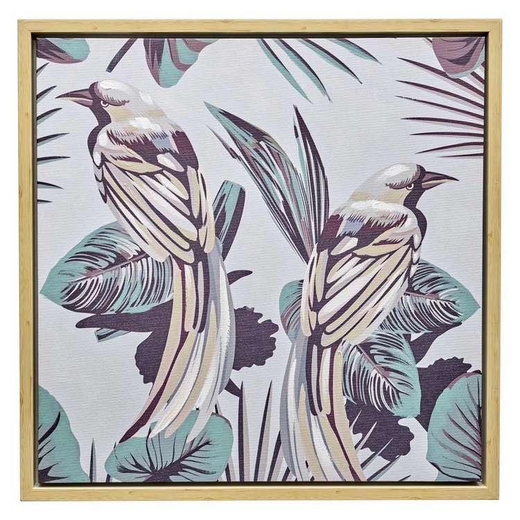 Emporium Birds Framed Canvas Print