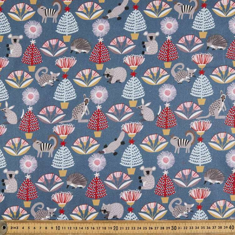 Jocelyn Proust All The Animals Christmas Cotton Fabric