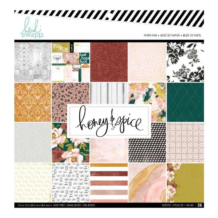 "Heidi Swapp 12"" Honey & Spice Paper Pad"