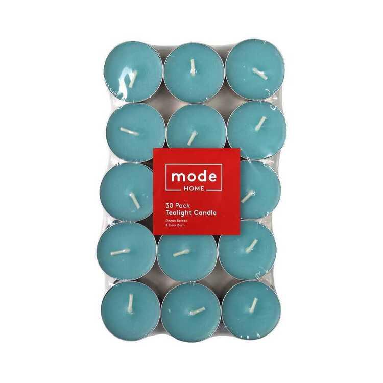 Mode 8 Hour Burn Time 30 Pack Ocean Breeze Tea Light Candles