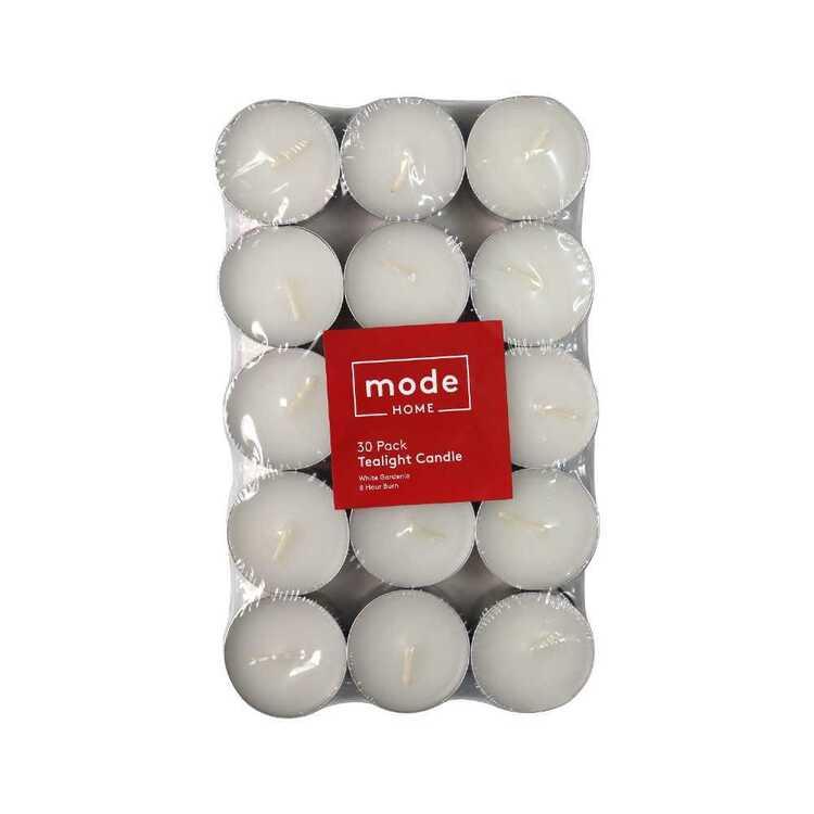 Mode 8 Hour Burn Time 30 Pack Gardenia Tea Light Candles