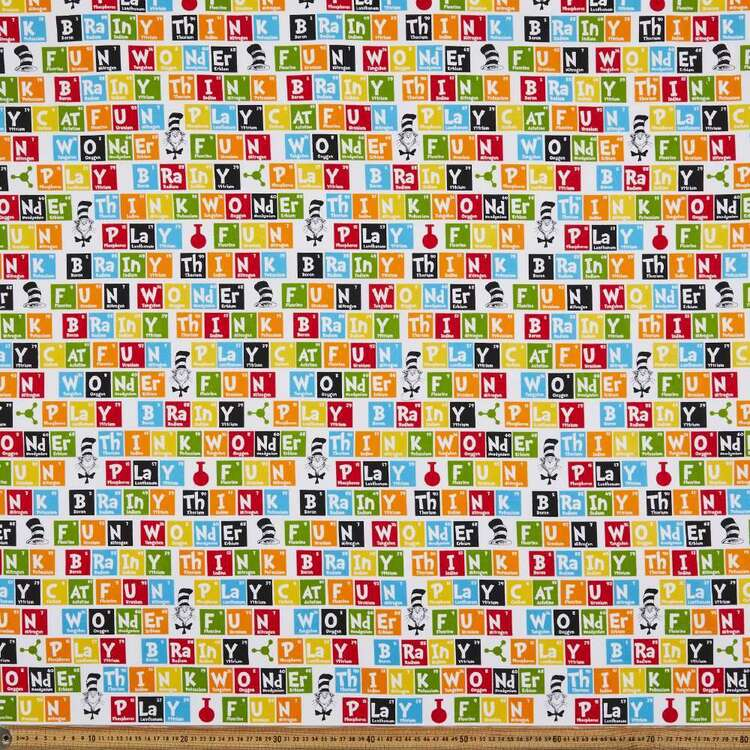Dr. Seuss Periodic Table Cotton Fabric