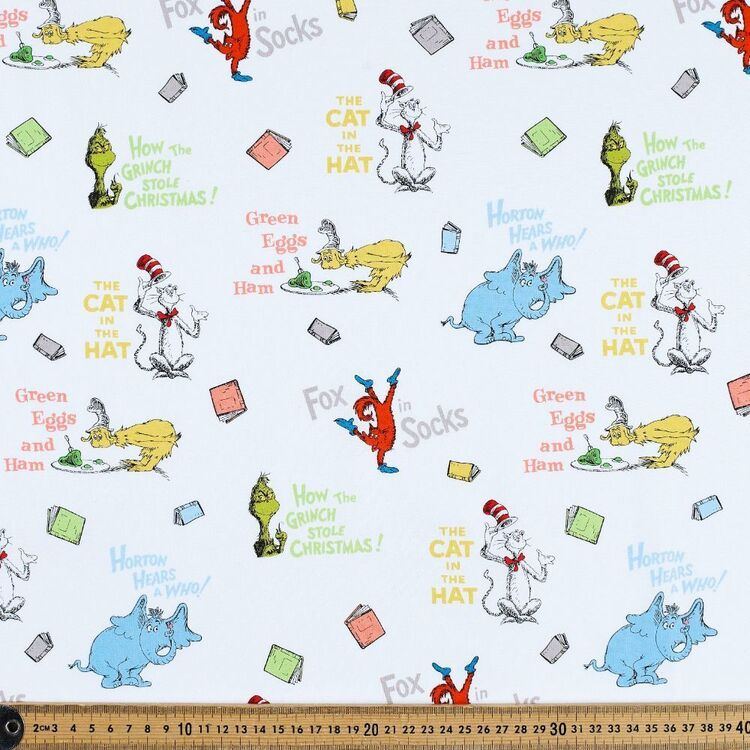Dr. Seuss Favourite Books Cotton Fabric