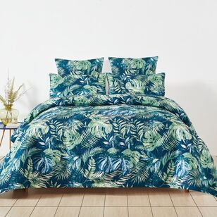 Eminence Tropical Palm Quilted Quilt Cover Set
