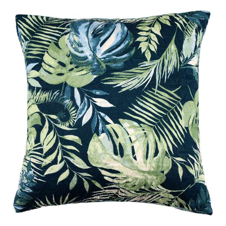 Eminence Tropical Palm Quilted European Pillowcase