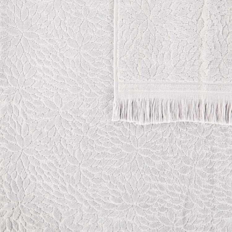 KOO Elite Chloe Jacquard Towel Collection Silver