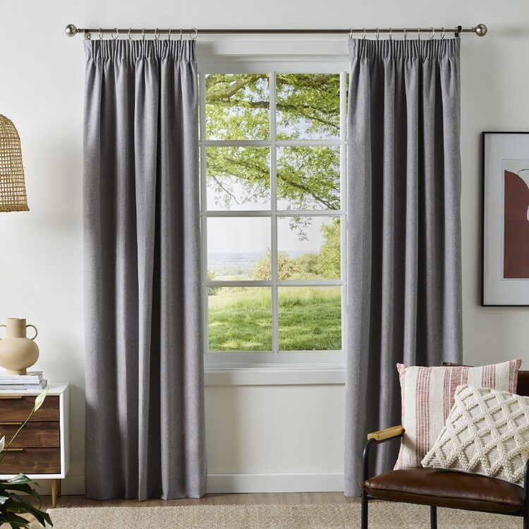 KOO Cloud Blockout Pencil Pleat Curtains